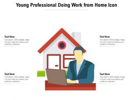 Young Professional Doing Work From Home Icon