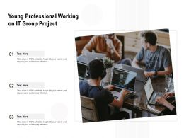 Young Professional Working On It Group Project