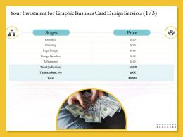 Your Investment For Graphic Business Card Design Services Planning Ppt File Elements