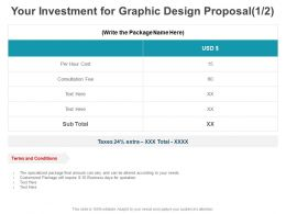 Your Investment For Graphic Design Proposal Marketing Ppt Powerpoint Presentation