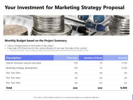 Your Investment For Marketing Strategy Proposal Ppt Powerpoint Presentation