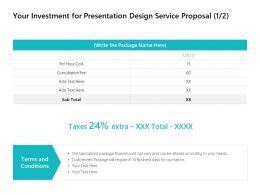 Your Investment For Presentation Design Service Proposal Terms Ppt Powerpoint
