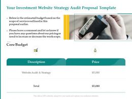 Your Investment Website Strategy Audit Proposal Template Ppt Powerpoint Presentation Templates