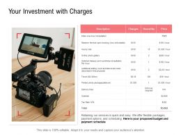 Your Investment With Charges Budget Ppt Powerpoint Presentation Portfolio