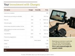 Your Investment With Charges Ppt Powerpoint Presentation Professional Inspiration
