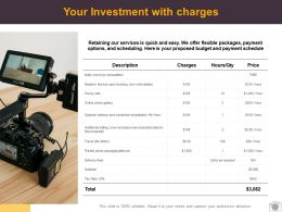 Your Investment With Charges Ppt Powerpoint Presentation Show Clipart