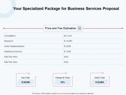 Your Specialized Package For Business Services Proposal Ppt Powerpoint Aids