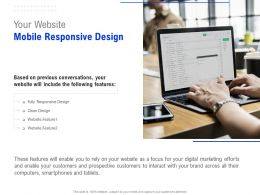 Your Website Mobile Responsive Design Ppt Powerpoint Presentation Infographic Template