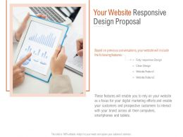 Your Website Responsive Design Proposal Ppt Powerpoint Presentation Icon