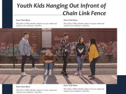 Youth Kids Hanging Out Infront Of Chain Link Fence