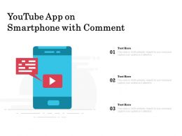 Youtube App On Smartphone With Comment
