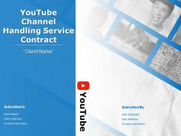 Youtube Channel Handling Service Contract Powerpoint Presentation Slides