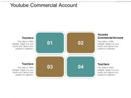 Youtube Commercial Account Ppt Powerpoint Presentation Portfolio Graphic Images Cpb