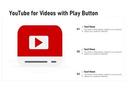 Youtube For Videos With Play Button