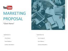 Youtube Marketing Proposal Powerpoint Presentation Slides