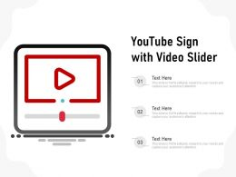 Youtube Sign With Video Slider