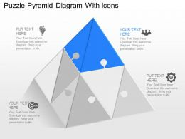 Yt Puzzle Pyramid Diagram With Icons Powerpoint Template