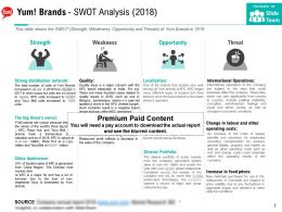 Yum Brands Swot Analysis 2018