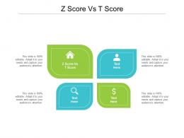 Z Score Vs T Score Ppt Powerpoint Presentation Portfolio Slide Portrait Cpb