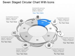 Za Seven Staged Circular Chart With Icons Powerpoint Template