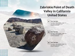 Zabriskie Point Of Death Valley In California United States