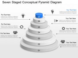 Zc Seven Staged Conceptual Pyramid Diagram Powerpoint Template