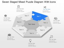 Zd Seven Staged Mixed Puzzle Diagram With Icons Powerpoint Template