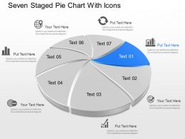 Ze Seven Staged Pie Chart With Icons Powerpoint Template