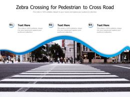 Zebra Crossing For Pedestrian To Cross Road