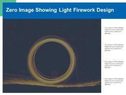 Zero Image Showing Light Firework Design