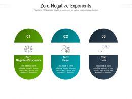 Zero Negative Exponents Ppt Powerpoint Presentation Inspiration Infographics Cpb