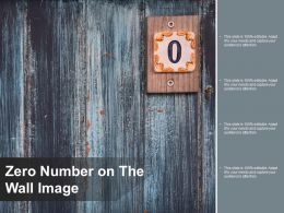 Zero Number On The Wall Image
