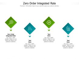 Zero Order Integrated Rate Ppt Powerpoint Presentation Pictures Slides Cpb