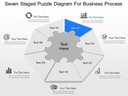 Zg Seven Staged Puzzle Diagram For Business Process Powerpoint Template