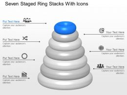 Zh Seven Staged Ring Stacks With Icons Powerpoint Template