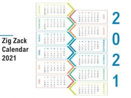 Zig Zack Calendar 2021