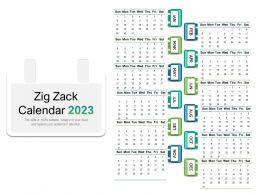 Zig Zack Calendar 2023