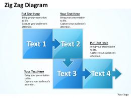 59137259 Style Circular Zig-Zag 4 Piece Powerpoint Template Diagram Graphic Slide