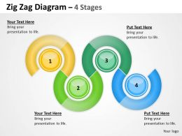 65193766 Style Circular Zig-Zag 4 Piece Powerpoint Template Diagram Graphic Slide