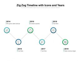 Zig Zag Timeline With Icons And Years
