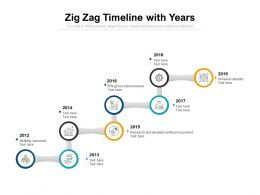Zig Zag Timeline With Years