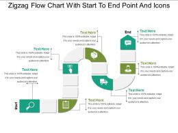Zigzag Flow Chart With Start To End Point And Icons