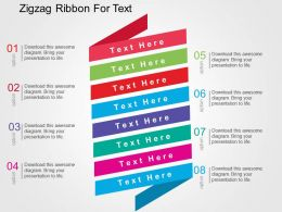 Zigzag Ribbon For Text Flat Powerpoint Design