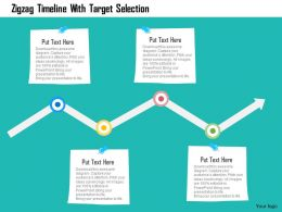 Zigzag Timeline With Target Selection Flat Powerpoint Design