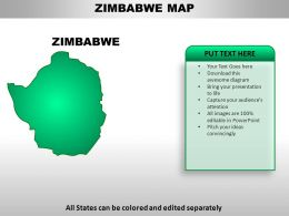 Zimbabwe Country Powerpoint Maps