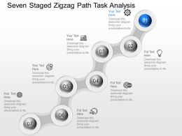 Zj Seven Staged Zigzag Path Task Analysis Powerpoint Template