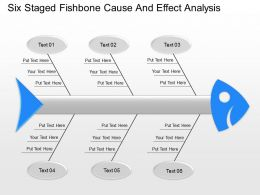 Zl Six Staged Fishbone Cause And Effect Analysis Powerpoint Template