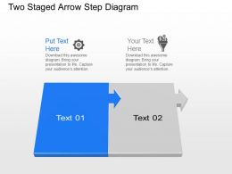 Zr Two Staged Arrow Step Diagram Powerpoint Template