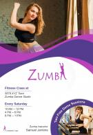 Zumba Training Two Page Brochure Flyer Template