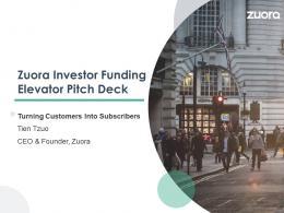 Zuora Investor Funding Elevator Pitch Deck Ppt Template